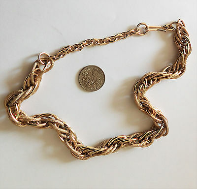 Vintage 1960s 1970s chunky chain short necklace Ladies old costume jewellery