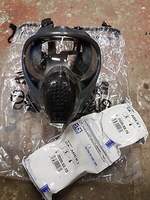 Full Face Mask Respirator Paint spraying Solvent Gas with 1pair filters