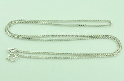 2.20 grams 14k solid white gold foxtail wheat chain necklace 18 inches fox #4956