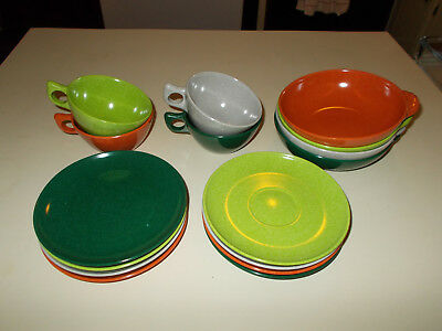 16 pc Branchell Color Flyte Melmac Dishes ~ SUPER Nice!
