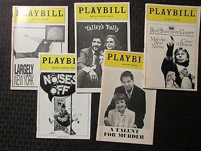 PLAYBILL Magazine LOT of 5 Talent For Murder / Talley's Folly / Noises Off