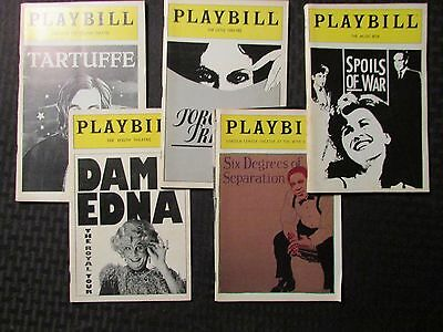 PLAYBILL Magazine LOT of 5 Spoils of War / Six Degrees / Torch Song / Dame Edna