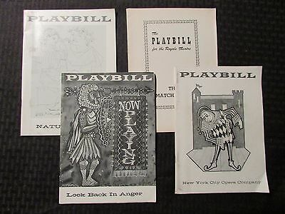 PLAYBILL Magazine LOT of 4 Look Back in Anger / Matchmaker / Nature's Way