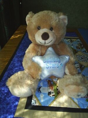 NWOT 2006 Russ Shining Stars Musical Light Brown Teddy Bear with free shipping