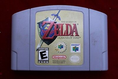 Nintendo 64 Legend of Zelda Ocarina of Time Video Game Cartridge & Manual N64