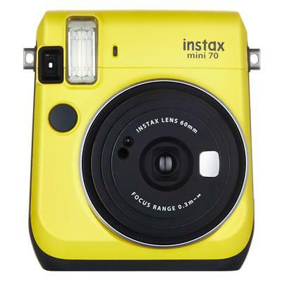 Fujifilm Instax Mini 70 Instant Camera with 10 Exposure Film - Canary Yellow