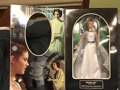 MINT in box! never opened! Star Wars Princess Leia barbie 1999 Portrait Edition