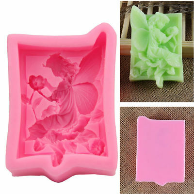 Fairy Angel Elf Silicone Soap Mould Fondant Flower Cake Chocolate Decor Mold