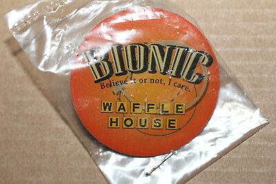 Waffle House Pin -  BIONIC Believe it or Not I Care - New in Package