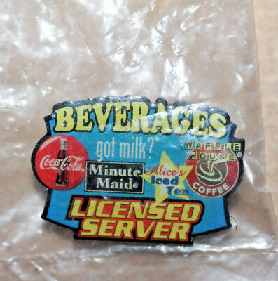 Waffle House Pin -  Beverages Licensed Server - New in Package