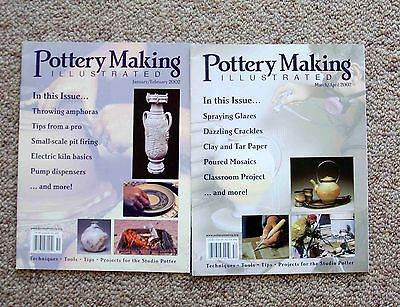 Pottery Making Illustrated - 2 issues from 2002