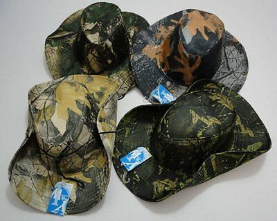 120pc Camouflage Hardwood Camo Fishing Hats Boonie Safari Outback Hat w/ Snaps