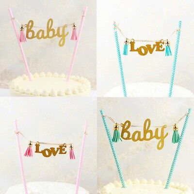 1pc Cake Decor Flag Cupcake Topper Bunting Banner For Baby Shower Wedding Party
