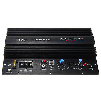1000W 12V HiFi High Power PA-80D Subwoofer Amplifier Board Car Audio Amp Player
