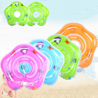 Safety Newborn Infant Baby Swimming Neck Float Ring Bath Inflatable Circle Toy