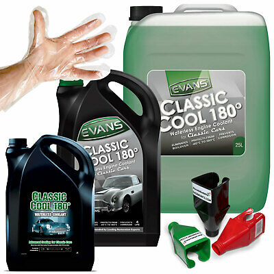 Evans Waterless Engine Radiator Coolant Classic Cool Car Jaguar MG Performance