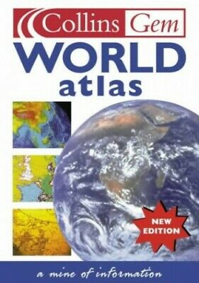 Collins Gem - World Atlas Paperback Book The Cheap Fast Free Post