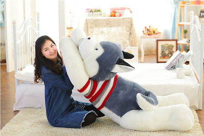 50cm Big Stuffed Animal Plush Siberian Husky Dog Puppy Pillow Toy Doll