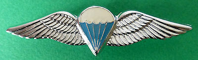 SOUTH AFRICA AIRBORNE PARACHUTE ADVANCED chrome and blue PARATROOPER PARA WINGS