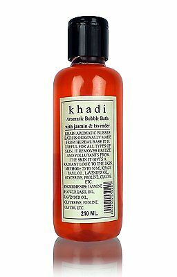 Khadi Herbal Aromatic Bubble Bath with Jasmine And Lavender - 210 ml