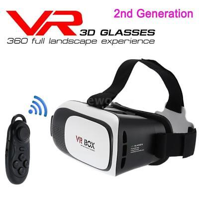 VR 3D Brille Virtual Reality Brille VR Box Mit Bluetooth Gamepad Universal A5U7