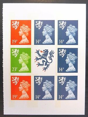 GB SCOTLAND 1989 Prestige Booklet Pane IMPERF ERROR SGS55la U/M NB2920