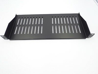 RACKMOUNT SHELF 1U FOR 19 INCH RACK - BLACK 200mm DEEP cantilever modem SHELF