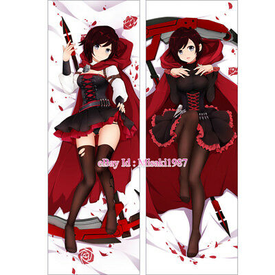 RWBY Dakimakura Ruby Rose Red Trailer Anime Girl Hugging Body Pillow Case Cover
