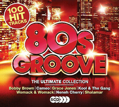 Various Artists : 80s Groove CD Box Set 5 discs (2017) ***NEW***