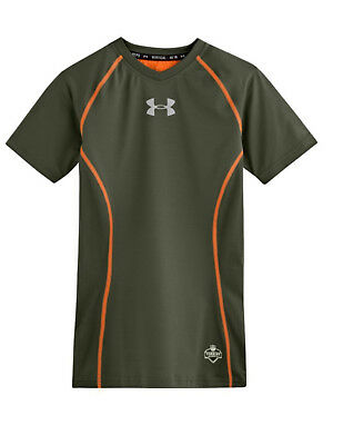 Under Armour Boys NFL Combine Compression Tee, Rough, Y-Large (1242724-334)