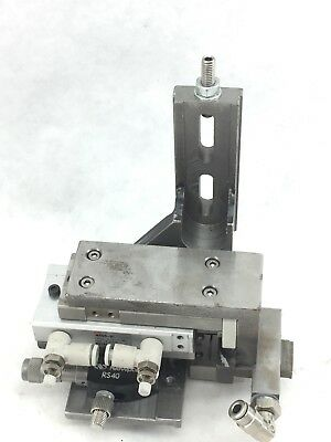 Smc  Pu  Mxq8-30 Actuator & Newport Rs40 Rotation Stage  Assembly  (A665)