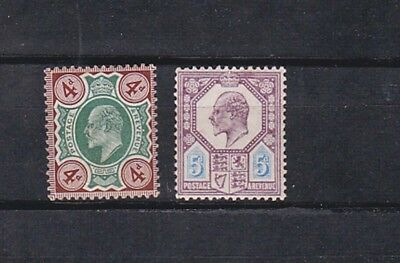 1902/11 chalky paper,two stamps,Sc 133b,134c,MNH      k383