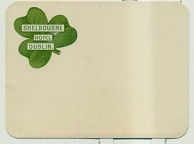 1910 Shelbourne Hotel Dublin, Ireland Shamrock Advertising Post Card