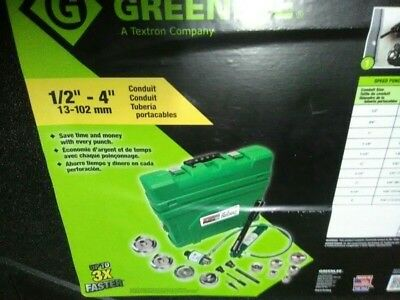 "NEW DEALS Greenlee Hydraulic Slug Buster Knockout Punch Set  7310SBSP  1/2"" - 4"""