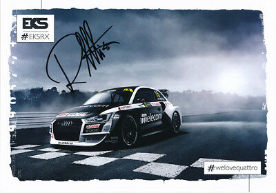 Reinis Nitiss Signed 6X8 Inches 2017 Rallycross Audi Photo Card