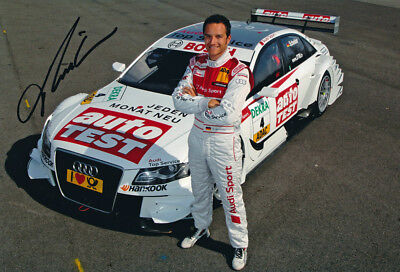 Timo Scheider Signed 8X12 inches DTM Photo