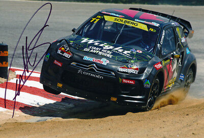 Petter Solberg Signed 8X12 Inches 2017 Rallycross Photo