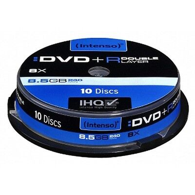 Pack de DVD+R 8.5 GB DL Double Layer 8x Speed  Intenso - Neuf