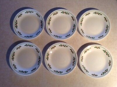 CORNING CORELLE Winter Holly Pattern Set of 4 Mugs 3 3/4\