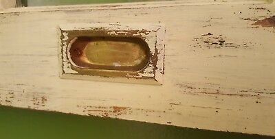 ARCHITECTURAL SALVAGE, ANTIQUE WOOD WINDOW FRAME PINTEREST RUSTIC 29x24 IVORY