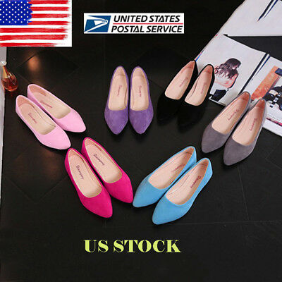 US Womens Summer Flat Block Heel Ballerina Dolly Bridal Pumps Smart  Shoes Size