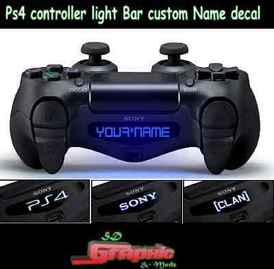 PS4 Controller Light Bar Decal Custom Personalised Vinyl Stickers Your name