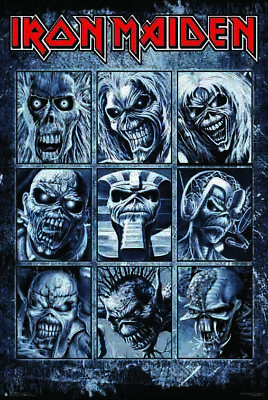 IRON MAIDEN - FACES OF EDDIE - POSTER 24x36 - MUSIC BAND 3270