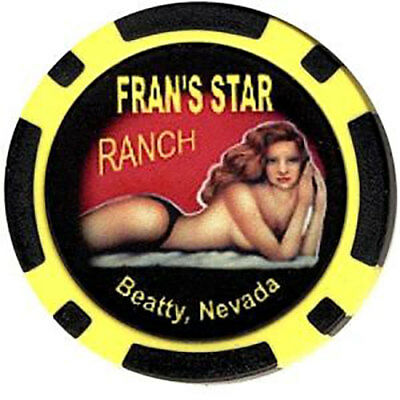 Brothel Chip - Fran's Star Ranch Beatty Nevada FREE SHIPPING