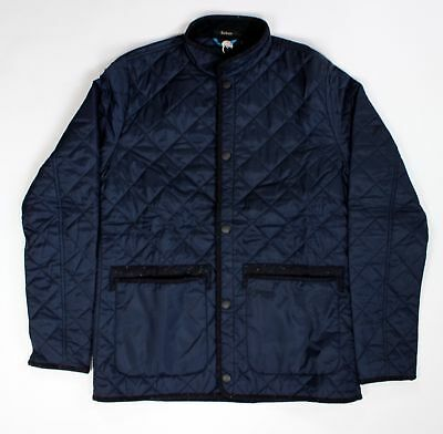 BRAND NEW - Barbour Homespun Tweeds Liddesdale Quilt Jacket Navy -L- MSRP $249