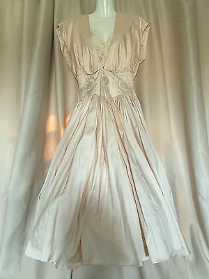 Mariana Hardwick Vintage C1990 Dusty Pink Silk Wedding Dress 14