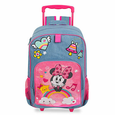 DISNEY Store ROLLING Backpack MINNIE MOUSE School Luggage NWT