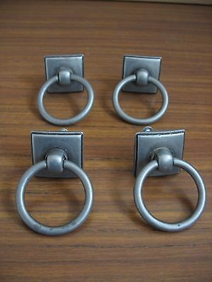Lot of 4 ANTIQUE - VINTAGE METAL DRAWER * furniture hardware * used