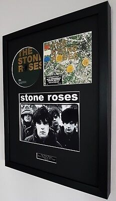 The Stone Roses Framed Original 20th Anniversary CD Plaque Certificate Ian Brown