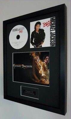 Michael Jackson Bad Framed Original CD Plaque-Certificate Exclusive to us